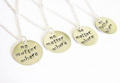 4 best friends necklaces long distance necklace personalized jewelry, gift for best friends four best friend jewelry friendship bff necklace