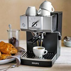 Krups Precise Tamp Espresso Maker #williamssonoma