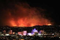 Wildfire in Reno, horrible