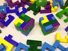 Designed on Christmas Day here is the second of my series of printable interlocking puzzles, and this time it's a cube. 3d Printing Business, 3d Printing Diy, 3d Printer Projects, Educational Games, Diy Box, Party Bags, Puzzle Pieces, Homemade Christmas, Small Gifts