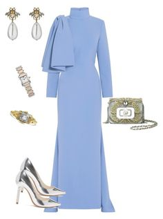 """""""Untitled #587"""" by sh-66-sh on Polyvore featuring Christian Siriano, Sophia Webster, Marchesa, Gucci, Cartier and Edgewood"""