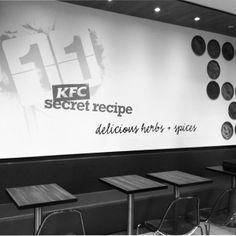 KFC Park Station, wall graphic