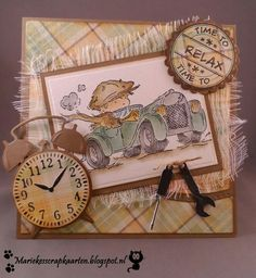handmade card from Marieke's scrapcards . vintage boy in roadster . luv the look with browns and plaids . Lily of the Valley stamps . Paper Art, Paper Crafts, Vintage Boys, Greeting Cards, Men's Cards, Masculine Cards, Lily Of The Valley, Handmade Christmas, Cardmaking
