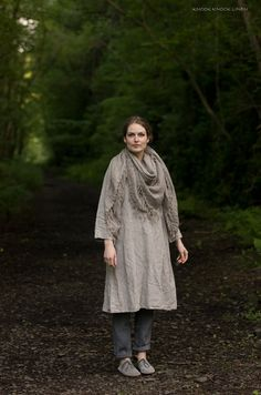Linen Trapeze Dress by KnockKnockLinen on Etsy, £86.00