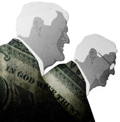 The Koch Brothers, Charles and David Koch. They own of fossil fuel giant KOCH INDUSTRIES and share place 6 of the forbes billionaires list.