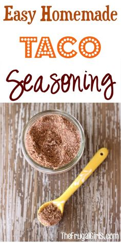 DIY Taco Seasoning Recipe! ~ from TheFrugalGirls.com ~ skip a trip to the store and make your own seasonings... SO simple and you'll love the flavor!