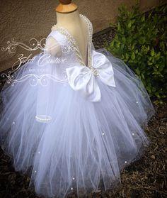 EsTong Baby Girls Dress Christening Baptism Flower Gowns Bowknot Dresses