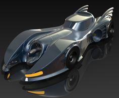 Batmobile modeled in SolidWorks by Matt Lombard
