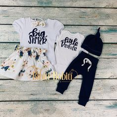 big sister little brother set/ big sister announcement/coming home outfit/baby boy by bibitibobitiboutique on Etsy Big Sister Outfits, Baby Outfits, Big Sister Presents, Big Sister Announcement, Cool Baby Clothes, Baby Pants, Coming Home Outfit, Stylish Baby, Boutique Clothing