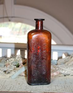 Your place to buy and sell all things handmade Amber Bottles, Old Bottles, The Fosters, Remedies, Bubbles, Handmade Items, Collections, Etsy Shop, Shapes