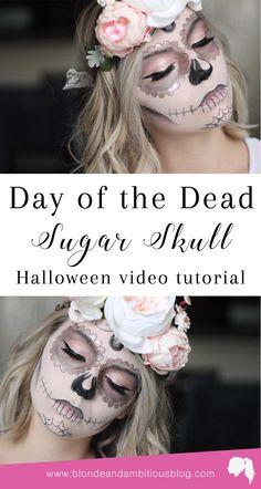 day of the dead sugar skull | pink sugar skull, sugar skull makeup, halloween makeup, glitter sugar skull, day of the dead makeup, pink day of the dead makeup, day of the dead sugar skull makeup