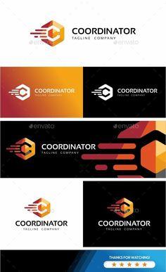 Coordinator-Hexagon Logo Template #Letter #Letters #Logo #Logos #graphicriver #logotemplates