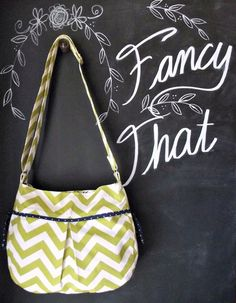 Best Seller  Large Chevron Purse IPad Green by ShoppeFancyThat, $60.00