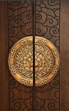 Main door entrance design architecture ideas for 2019 Cool Doors, Unique Doors, Wooden Door Design, Wooden Doors, Wooden Windows, Windows And Doors, Pooja Room Door Design, Pooja Rooms, Modern Door