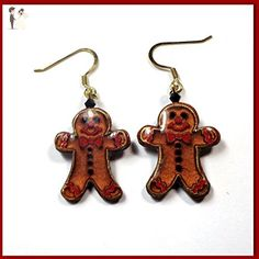Gingerbread Earrings Polymer Clay Earrings Christmas Handmade Holiday Earrings Gifts for Her - Wedding earings (*Amazon Partner-Link)