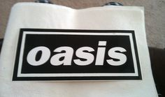 "Oasis 10.5""x5"" large Sticker DECAL deadstock new old stock"