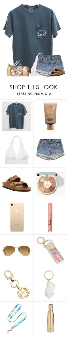 """READY FOR SUMMER !!!"" by abigailcdunn ❤ liked on Polyvore featuring tarte, Victoria's Secret, Stila, Birkenstock, Cherokee, Ray-Ban, Lilly Pulitzer, Tory Burch, BP. and S'well"