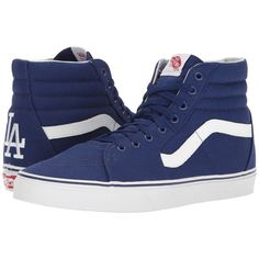 c460214f3a4 Vans SK8-Hi ((MLB) Los Angeles Dodgers Blue) Skate Shoes ( 75) ❤ liked on  Polyvore featuring shoes
