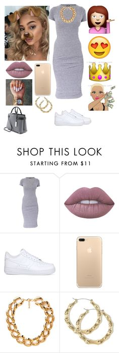 """waiting on my birthday..................."" by queenag123 ❤ liked on Polyvore featuring Monrow, Lime Crime, NIKE, Forever 21 and Michael Kors"