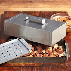 Got this for Father's Day and finally put to the test with stuffed pork chops. AWESOME results. This is highly recommended.    Stainless-Steel Smoker Box #WilliamsSonoma
