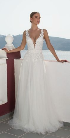 We're taking you on a journey to Greece with Julie Vino 2016 Santorini Bridal Collection filled with wedding dresses perfect for the fashion-forward bride. 2016 Wedding Dresses, Wedding Attire, Bridal Dresses, Wedding Gowns, Lace Wedding, Prom Dresses, Bridal Collection, Dress Collection, Wedding Inspiration