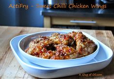 A Glug of Oil : Tefal ActiFry - Sweet Chilli Chicken Wings My Recipes, Gourmet Recipes, Cooking Recipes, Healthy Recipes, Tefal Actifry, Actifry Recipes, Fried Vegetables, Sweet Chilli, Easy Cooking