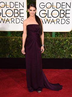 Jennifer Aniston in Saint Laurent Red carpet arrivals at the 72nd Annual Golden Globe Awards.