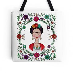 Items similar to Frida Kahlo Original Painting Frida and Cat Love on Etsy White Handbag, Crochet Woman, Embroidery Fashion, Wine Bottle Crafts, Doll Patterns, Cat Love, Tote Handbags, Embroidery Stitches, Reusable Tote Bags