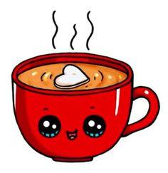 Hot Chocolate Mug Hot Chocolate Mug - lea - Zeichnung Kawaii Girl Drawings, Cute Food Drawings, Cute Animal Drawings Kawaii, Cute Little Drawings, Cartoon Drawings, Griffonnages Kawaii, Arte Do Kawaii, Kawaii Anime, Illustration Mignonne