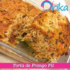 Torta de Frango Fit – Blog da Drika