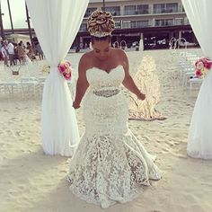 Bride @honeygerman was married yesterday in Punta Cana! She wore a gorgeous @pninatornai dress from #Kleinfeld Congratulations! #ALoveMeantToBee