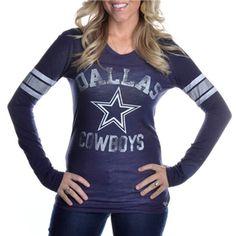 Dallas Cowboys PINK 1st Round Pick Long Sleeve T-Shirt | Dallas Cowboys Clothing | Dallas Cowboys Store - Dallas Cowboys Pro Shop