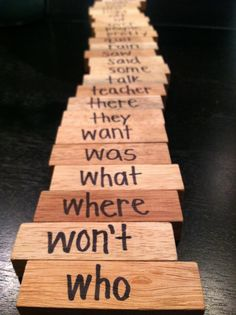 Sight word JENGA