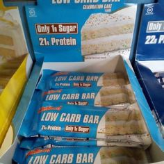 Barritas de proteína sabor tarta de cumpleaños con solo 1gr de azúcar por barrita y de sabor......increíble. Todo esto y más en www.ironcansport.com