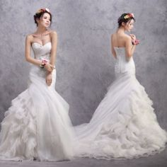 Sequin Dress 2014 New Arrival Mermaid Sweetheart Strapless Court Train Organza Tiered Sequined Wedding Dress Discount Online Shopping Available at www.e1weddingdress.com  http://www.e1weddingdress.com/pd--p-628496-a-0-ex-0-pn-Sequin-Dress-2014-New-Arrival-Mermaid-Sweetheart-Strapless-Court-Train-Organza-Tiered-Sequined-Wedding-Dress-Discount-Online-Shopping.html