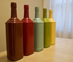 Spray painting glass bottles -- doing this today!!