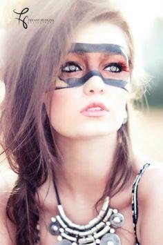 Tribal makeup.