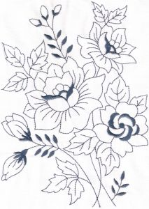 Machine Embroidery Designs --- Vintage Florals 01