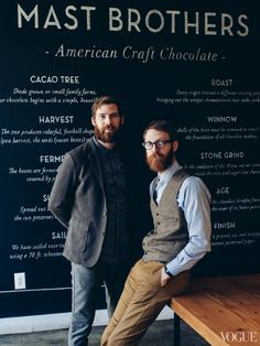 beardbrand:  The Mast Brothers for Vogue, posted viaplaidandpine