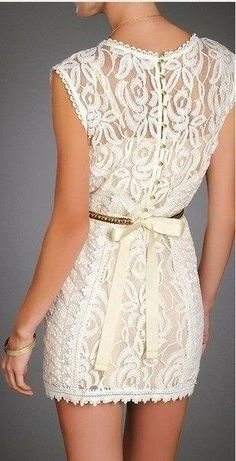 Pretty lace mini dress!