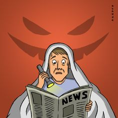 Terror News #terror #news #prensa #illustration #ilustracion Illustrations, Fictional Characters, Art, Printing Press, Art Background, Illustration, Kunst, Gcse Art, Art Education Resources