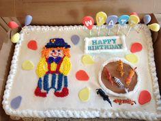 Wyatt's Circus Clown Cake to match Piñata