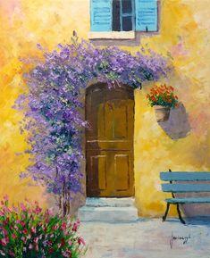 Jean Marc Janiaczyk, 1966 ~ Realist/Impressionist painter - Hobbies paining body for kids and adult Small Canvas Art, Mini Canvas Art, French Paintings, Beautiful Paintings, Watercolor Paintings For Beginners, Watercolor Art, Pastel Art, Cottage Art, French Art