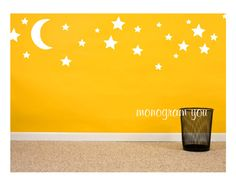 Hey, I found this really awesome Etsy listing at https://www.etsy.com/listing/151252931/moon-and-stars-wall-decal