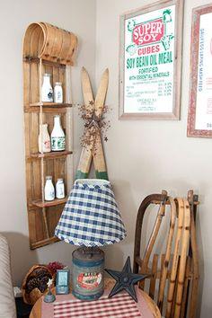 Love the toboggan shelf!