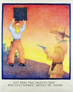 Glenn Baxter, Just bring that Malevich down.jpg (744×941)
