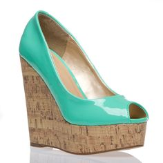 Need teal shoes! ...Don't love the wedge, but love the colour! ...If anyone knows where to get heels in this colour pleeeassee point me in the right direction :)