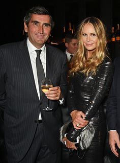 Veuve Clicquot President JeanMarc Gallot and Elle Macpherson attend the Veuve Clicquot Widow Series 'A Beautiful Darkness' curated by Nick Knight and...