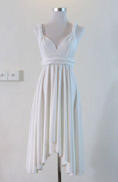 Summer day dress Convertible Dress in White Wedding Bride Infinity Dress Multiway Dress pastel white light Wrap dress