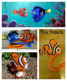 Free Crochet Nemo and Dory Hat Patterns